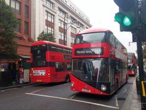 Klassische Londoner Busse