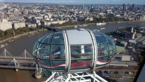 London Eye Panorama Gondeln